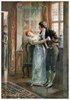 Under the Mistletoe (1893) by Edward Frederick Brewtnall (1846 - 1902)