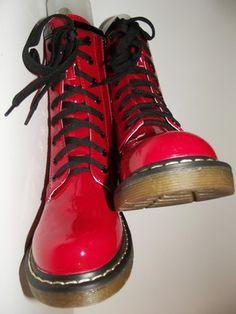Bottes femme Bottines ROUGE Look Verni Red Boots Botas rojas p 39