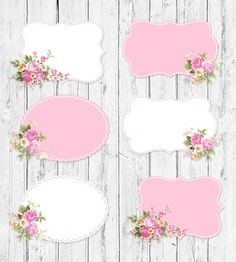 This item is unavailable Frame Clipart, Frame Floral, Flower Frame, Marcos Shabby Chic, Printable Labels, Printables, Floral Rosa, Shabby Chic Frames, Craft Ideas