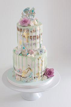 Pastel Drip Cake