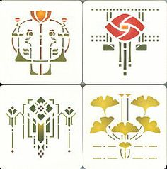 Fair Oak Workshops - Contemporary Arts & Crafts Furnishings and Accessories [Helen Foster Stencil Coasters]