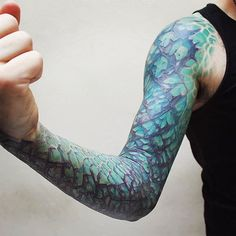 Dragon Tattoo Sleeve by Vincent Hachen