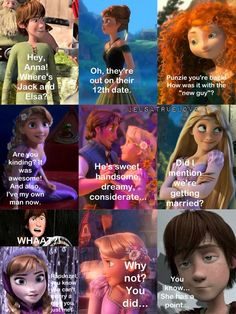 Part ❤ Rapunzel and Eugene are perfect together.we need her to marry him, so she won't mess with Jelsa. Disney Pixar, Disney Ships, Disney And Dreamworks, Disney Love, Disney Tangled, Funny Disney Jokes, Disney Memes, Disney Quotes, Disney Crossovers