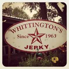 ...Awesome jerky at Whittington's in Johnson City, TX