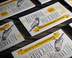 Letterpress Business Cards  by Print (via Creattica)