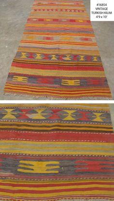 antique turkish kilim Number 16854, vintage colorful kilim | Woven