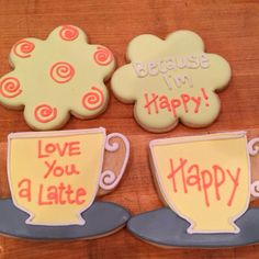Nothing like a happy little sugar cookie to go with your latte. Especially a cookie that's so darn happy!