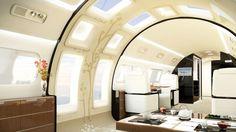 Embraer anuncia jato superluxuoso equipado com teto solar e amplas janelas Lineage 1000E