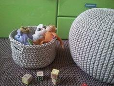Handmade Crochet Basket Basket with Handles  Home Decor Towel Basket Storage Basket (13.00 EUR) by pumpur
