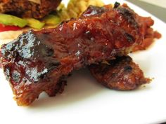 Barbecued Seitan Ribs - This were great! - But next time I will have to cut down on the chipotle powder