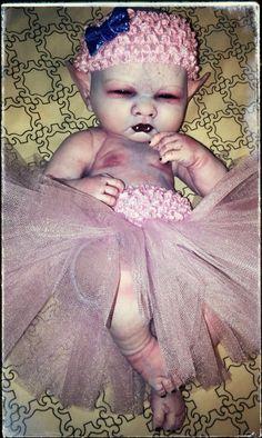 Horror Goth Art Doll ~ Vampire Baby ~ Reborn ~ Pink and Purple Doll Head, Doll Face, Reborn Dolls, Reborn Babies, Avatar Babies, Creepy Baby Dolls, Demon Baby, Zombie Dolls, Living Dead Dolls