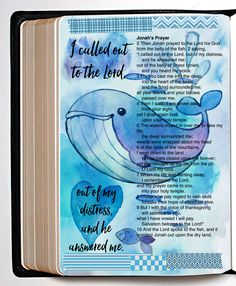 Bible Journaling Digitally Page Watercolor Ocean Kit or Digital Scrapbook Kit 4 papers and 40 elements png and jpg files - Online Courses - Ideas of Online Courses - Scripture Art, Bible Art, Bible Scriptures, Scripture Journal, Daily Scripture, Bible Drawing, Bible Doodling, Bibel Journal, Watercolor Ocean