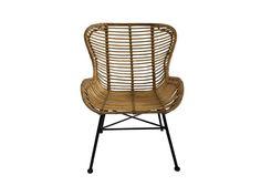 Fraaie eetkamerstoel gemaakt van rotan. Het onderstel is gepoedercoat voor duurzaam gebruikt. De zithoogte is 48cm en armleuning 62cm. De stoelen zijn te bestellen voor €89,- op onze website.