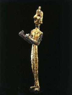 A Canaanite Copper Figure of the God Baal, Covered in Sheet Gold
