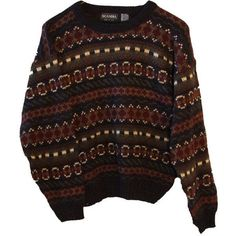 Indie Zig-Zag Tribal Print Hipster Sweater Tumblr ($45) ❤ liked on Polyvore featuring tops, sweaters, shirts, jumpers, zig zag shirt, tribal pattern sweater, brown shirt, tribal pattern shirts and brown sweater