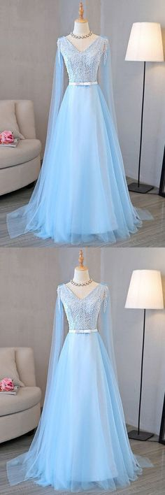Prom Dresses Ball Gown, Blue tulle long A-line senior prom dress with pearl, from the ever-popular high-low prom dresses, to fun and flirty short prom dresses and elegant long prom gowns. Senior Prom Dresses, Cute Prom Dresses, Long Prom Gowns, Plus Size Prom Dresses, Black Prom Dresses, Pretty Dresses, Beautiful Dresses, Evening Dresses, Bridesmaid Dresses