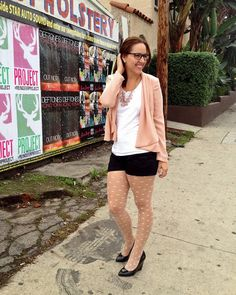my thrifty chic - tights and shorts