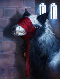 """Commission for Wolf-Butter of the character """"the Warden"""". This was really pleasant to paint! Especially the bone part ~ You can find my commission. The Warden Fantasy Wolf, Fantasy Beasts, Dark Fantasy Art, Dark Art, Anime Wolf, Arte Horror, Horror Art, Creature Drawings, Animal Drawings"""