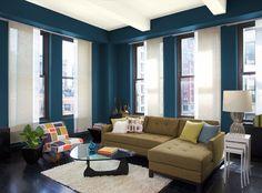 Blue Living Room - Benjamin Moore - blue danube (2062-30)