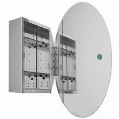 Glacier Bay 20 in. x 30 in. Recessed or Surface Mount Medicine Cabinet with Oval Beveled Mirror-SP4452 - The Home Depot