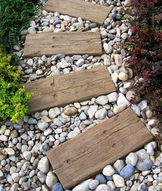 Railroad Ties as Stepping Stones