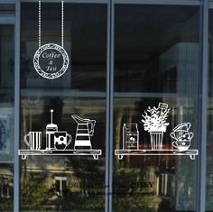 Cake Coffee Cafe Tea Shop Window Sign Stickers Decal Vinyl Business Decor in Business, Shop Equipment, Signs   eBay!