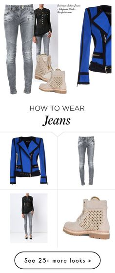 """Jeans"" by fashionrushs on Polyvore featuring Balmain"