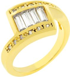#lechicusa.com            #ring                     #Fanned #Ring, #Chic      Fanned CZ Ring, Le Chic                             http://www.seapai.com/product.aspx?PID=156320