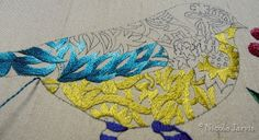 I need to practice that fade stitching Blue Birds & Berries by needlenotes, via Flickr