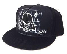 DARTH VADER SNAPBACK HAT Black/Gray/White Star Wars Storm Trooper Men/Women/Teen #StarWars #BaseballCap