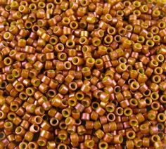 AIKO Precision Cylinder Beads  Frosted Rose by HansonStoneVintage