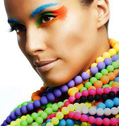 Make colorida para o carnaval