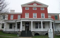 Our 1810 mansion is receiving much needed repairs over several years.  One of the most notable changes will be the transition from white to red. Ogdensburg, NY