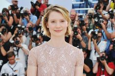 """Mia Wasikowska Photos - Actress Mia Wasikowska attends the """"Restless"""" photocall during the 64th Annual Cannes Film Festival on May 13, 2011 in Cannes, France. - """"Restless"""" Photocall - 64th Annual Cannes Film Festival"""