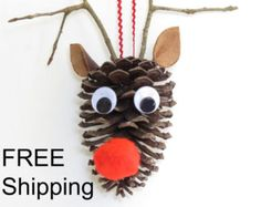 Horse Decor Equestrian Ornament Unique by ThePineConePlace on Etsy