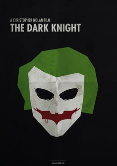 The Dark Knight (2008) ~ Minimal Movie Poster by Quim Marbet