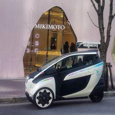 #ミキモト#MIKIMOTO #銀座 #ginza #iROAD #tokyo #toyotaiROAD #hamoride #電気自動車 #超小型モビリティ #ハーモライド  #カーシェアリング #carsharing #timescarplushamo #timescarplus #三輪 #3輪 #3wheeler #threewheels#threewheeler  #ultracompactelectricvehicles #emobility #electriccar #electricvehicle #Fun_To_Drive_iROAD6 by kumamon5515