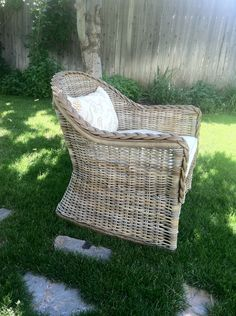 I Love The Look Of Weathered Wicker, But. Old WickerWicker ChairsWicker ...