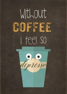 Express your addiction to coffee with this COFFEE Metal Print by Monika Strigel