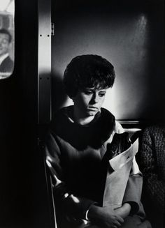 "Whether capturing bustling crowd scenes or solitary figures like this, Dave Heath's photographs conjure feelings of alienation and a desire for human connection. See more of his poignant work in ""Multitude, Solitude: The Photographs of Dave Heath,"" on view now through February 21.   ""Elevated in Brooklyn, New York City,"" 1963, by Dave Heath (The Nelson-Atkins Museum of Art, Kansas City, Missouri: Gift of the Hall Family Foundation, 2011.67.33)"