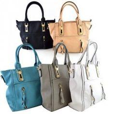 Handtasche mit Reißverschluss-Details