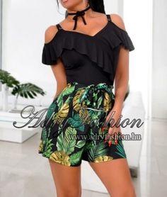 3745394523 Pálma mintás női short - AdryFashion női ruha webáruház, Ruha webshop,  Amnesia, NedyN, Rensix , Egyedi ruha