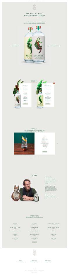 Seedlip Drinks – Best Website Gallery – Web Design Trends –hand picked by @davidhellmann