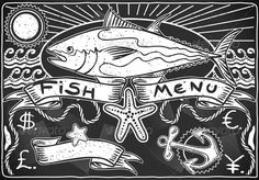 Vintage Graphic Blackboard for Fish Menu  #GraphicRiver         Detailed illustration of a Vintage Graphic Blackboard for fish Menu Illustration in EPS10 with color space in RGB. Where possible, the objects have been grouped to make it easily editable or hidden. This image has transparent forms are in the figures.     Created: 27July13 GraphicsFilesIncluded: JPGImage #VectorEPS #AIIllustrator Layered: Yes MinimumAdobeCSVersion: CS Tags: aged #ancient #antique #banner #blackboard #chalk…