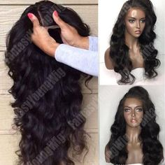 Glueless 100% Remy Virgin Human Hair Wig Body Curl Wave Full Lace Wigs Baby Hair