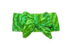 Baby Head Wrap - Green Bahama @ Lucy Loo Babygear! lucyloobabygear.bigcartel.com