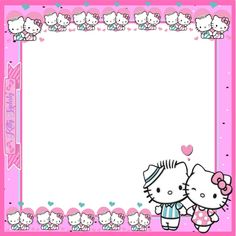 Picture Frame Layout, Picture Frames, Overlays, Hello Kitty, Bubbles, Printables, Templates, Usa, Wallpaper