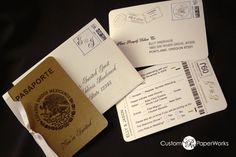 passport invitation for destination wedding
