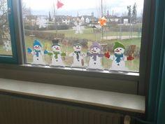 Materialkiste: Schneemann Fensterbild