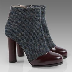 Paul Smith Blue Harris Tweed Duvall Ankle Boots